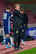 Scotland U21 head coach, Scott Gemmill during the U21 UEFA EUROPEAN CHAMPIONSHIPS match between U21 Scotland and U21 Greece at Tynecastle Park, Edinburgh, Scotland on 15 November 2019.