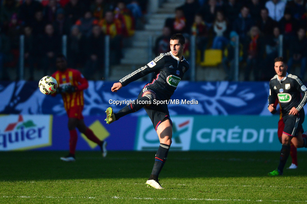 Maxime GONALONS - 04.01.2014 - Lens / Lyon - Coupe de France<br />Photo : Dave Winter / Icon Sport