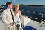 Bride and Groom sailboat ride