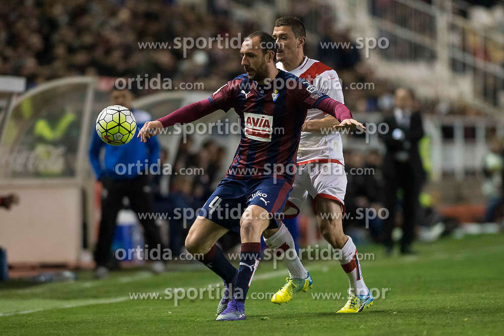 12.03.2016, Estadio de Vallecas, Madrid, ESP, Primera Division, Rayo Vallecano vs SD Eibar, 29. Runde, im Bild Sociedad Deportiva Eibar's Ivan Ramis // during the Spanish Primera Division 29th round match between Rayo Vallecano and SD Eibar at the Estadio de Vallecas in Madrid, Spain on 2016/03/12. EXPA Pictures &copy; 2016, PhotoCredit: EXPA/ Alterphotos/ Borja B.Hojas<br /> <br /> *****ATTENTION - OUT of ESP, SUI*****