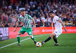 February 28, 2019 - Valencia, U.S. - VALENCIA, SPAIN - FEBRUARY 28: Joaquin Sanchez, midfielder of Real Betis Balompie competes with Gonalo Guedes, midfielder of Valencia CF during the Copa del Rey match between Valencia CF and Real Betis Balompie at Mestalla stadium on February 28, 2019 in Valencia, Spain. (Photo by Carlos Sanchez Martinez/Icon Sportswire) (Credit Image: © Carlos Sanchez Martinez/Icon SMI via ZUMA Press)