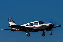 Piper PA-28R-200 Arrow (N5472T) operated by Advantage Aviation on approach to Palo Alto Airport (KPAO), Palo Alto, California, United States of America