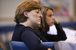 Health workers listening during a session at an NHS Training event on staff development,