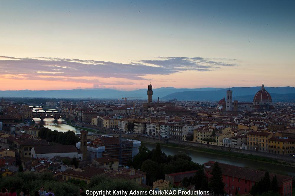 Skyiine of Florence, Firenze, Italy.