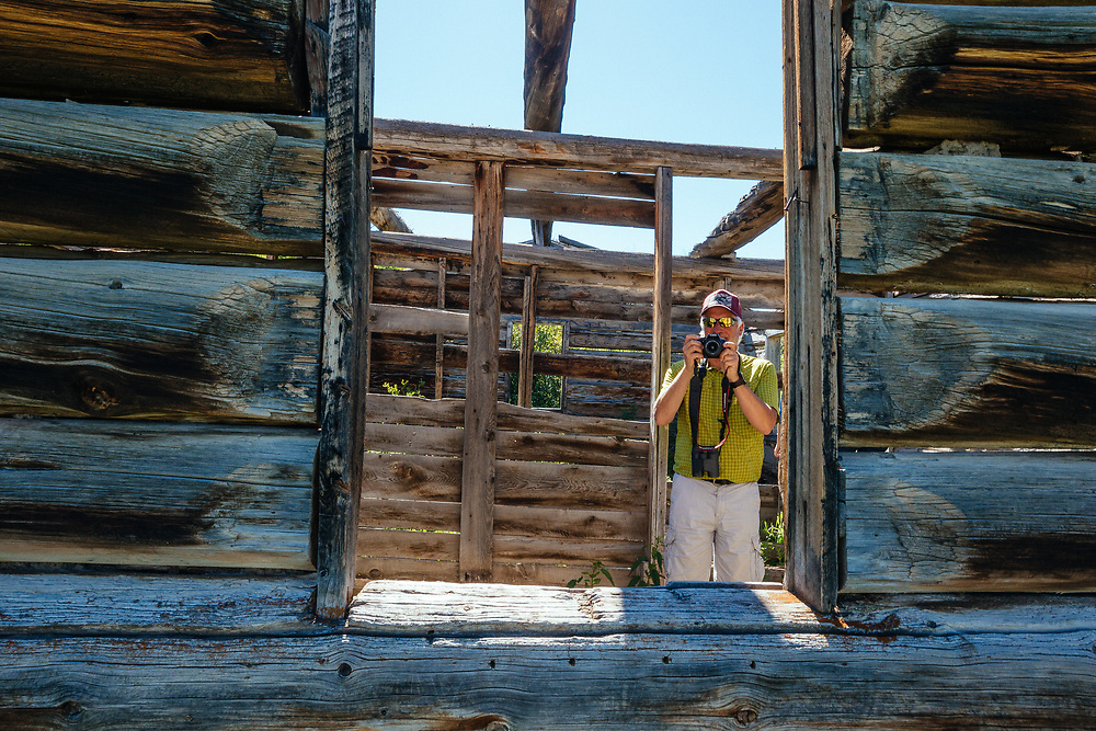 Greg Peck explores the Shane Cabins Homestead in Grand Teton National Park, Wyoming.