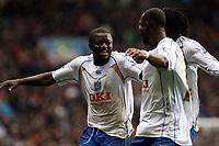 Photo: Mark Stephenson/Sportsbeat Images.<br /> Aston Villa v Portsmouth. The FA Barclays Premiership. 08/12/2007.Portsmouth's Sulley Ali Muntari (L) celebrates his 2ed goal