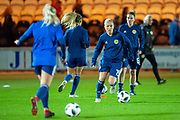 Lana Clelland (#19) (ACF Fiorentina) of Scotland warms up before the Women's International Friendly match between Scotland Women and USA at the Simple Digital Arena, Paisley, Scotland on 13 November 2018.