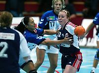 Håndball, 26. september 2002. Treningskamp, Norge - Jugoslavia 31-19. Karoline Dyhre Breivang, Norge.