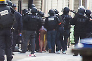 TAKING ASSAULTS POLICE FORCES ARREST SUSPECTS IN CONNECTION WITH ATTACKS OF 13 November 2015 IN THE CITY OF SAINT- DENIS . September people were arrested , TWO PEOPLE ARE DIED .<br /> ©Exclusivepix Media
