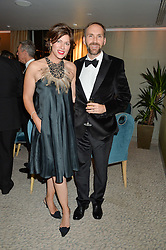 KATE SILVERTON and MIKE HERON at the David Shepherd Wildlife Foundation Wildlife Ball at The Dorchester, Park Lane, London on 9th October 2015.