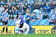 Blackburn Rovers midfielder Lewis Holtby (22) celebrates after scoring his team's first goal during the EFL Sky Bet Championship match between Sheffield Wednesday and Blackburn Rovers at Hillsborough, Sheffield, England on 18 January 2020.