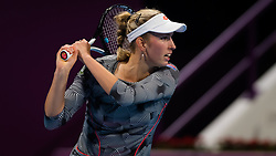 February 14, 2019 - Doha, QATAR - Elise Mertens of Belgium in action during her quarter-final match at the 2019 Qatar Total Open WTA Premier tennis tournament (Credit Image: © AFP7 via ZUMA Wire)