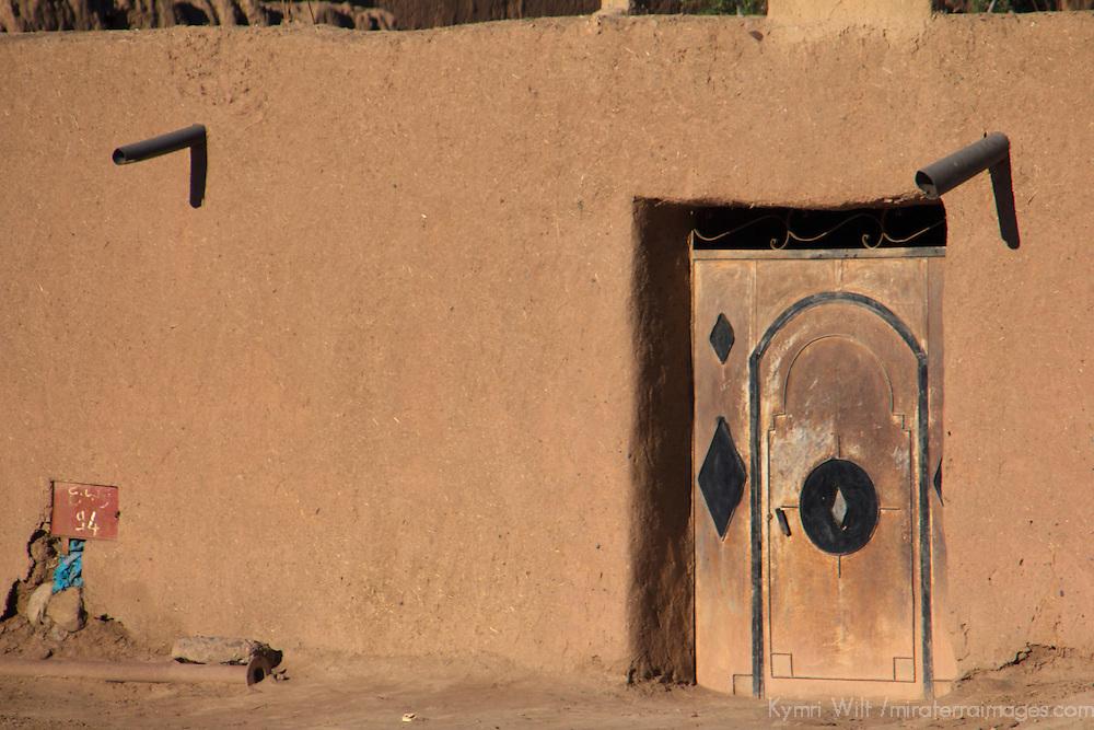 Africa, Morocco, Skoura. Moroccan Door, Skoura.