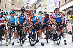 WNT Pro Cycling line up for Emakumeen Bira 2018 - Stage 1, a 108 km road race starting and finishing in Legazpi, Spain on May 19, 2018. Photo by Sean Robinson/Velofocus.com