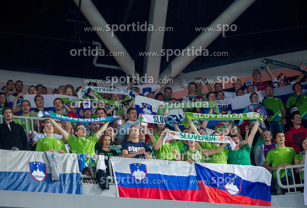 Fans during basketball match between National teams of Slovenia and France in Quarterfinals at Day 15 of Eurobasket 2013 on September 18, 2013 in Arena Stozice, Ljubljana, Slovenia. (Photo by Vid Ponikvar / Sportida.com)