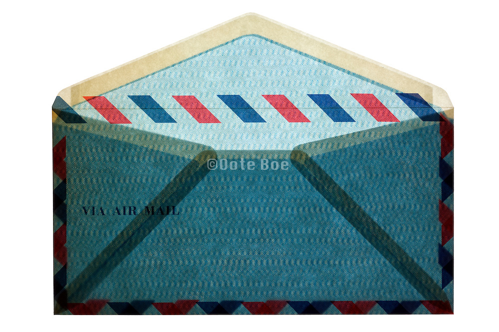 blue traditional standard air mail envelope
