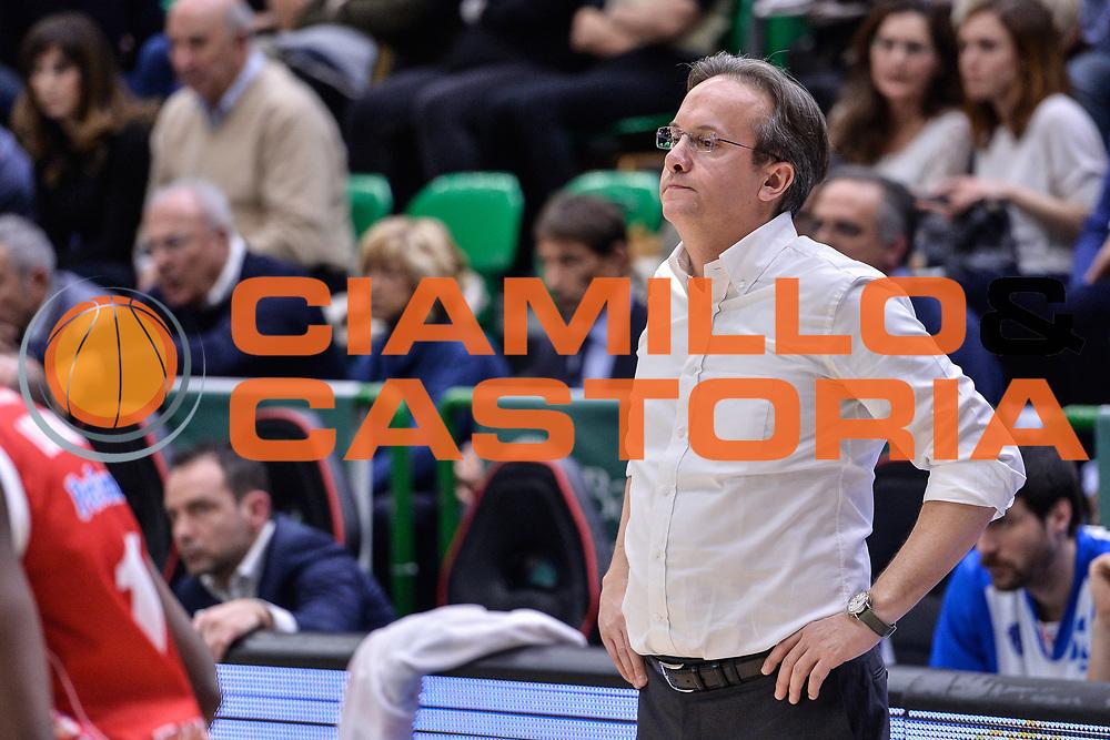 Federico Pasquini<br /> Banco di Sardegna Dinamo Sassari - The Flexx Pistoia Basket<br /> Legabasket Serie A LBA Poste Mobile 2016/2017<br /> Sassari 04/03/2017
