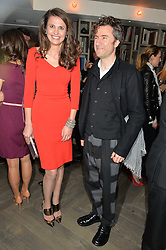 OLIVIA COLE and THOMAS HEATHERWICK at the 3rd birthday party for Spectator Life magazine hosted by Andrew Neil and Olivia Cole held at the Belgraves Hotel, 20 Chesham Place, London on 31st March 2015.