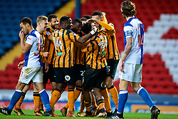 BLACKBURN, ENGLAND - Saturday, January 6, 2018: Hull City's Ola Aina celebrates scoring the first goal during the FA Cup 3rd Round match between Blackburn Rovers FC and Hull City FC at Ewood Park. (Pic by David Rawcliffe/Propaganda)