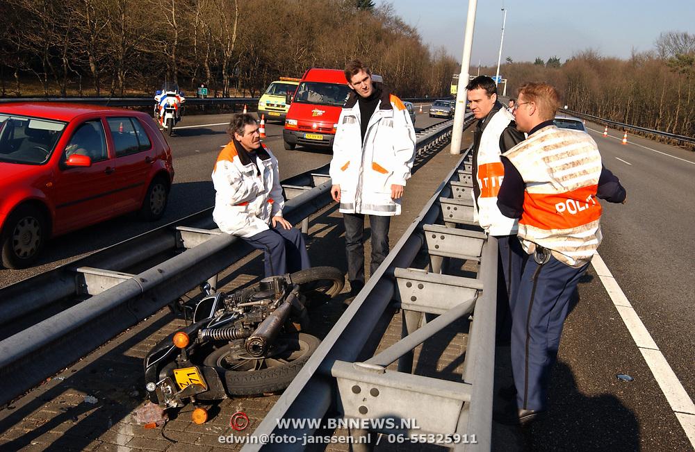 Dodelijk ongeval motorrijder A1 bij Laren, technisch onderzoek, tco