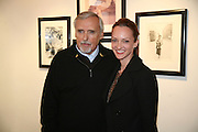 DENNIS AND VICTORIA HOPPER,  Norman Parkinson and Philip Treacy, an exhibition of photographs by Norman Parkinson and drawings by celebrated milliner Philip Treacy. ELEVEN Gallery. VICTORIA. LONDON. 3 July 2007.  -DO NOT ARCHIVE-© Copyright Photograph by Dafydd Jones. 248 Clapham Rd. London SW9 0PZ. Tel 0207 820 0771. www.dafjones.com.