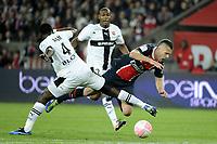 FOOTBALL - FRENCH CHAMPIONSHIP 2011/2012 - L1 - PARIS SAINT GERMAIN v STADE RENNAIS - 13/05/2012 - PHOTO JEAN MARIE HERVIO / REGAMEDIA / DPPI - JEREMY MENEZ (PSG) / ONYEKACHI APAM (S-R)