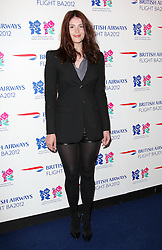 Gemma Arterton at the launch of the Flight BA2012 pop up restaurant in London, Tuesday 3rd April 2012.  Photo by: Stephen Lock / i-Images