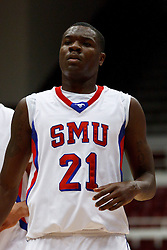 Nov 15, 2011; Stanford CA, USA;  Southern Methodist Mustangs guard Jalen Jones (21) before a free throw against the Fresno State Bulldogs during the first half of a preseason NIT game at Maples Pavilion.  Fresno State defeated Southern Methodist 54-52. Mandatory Credit: Jason O. Watson-US PRESSWIRE