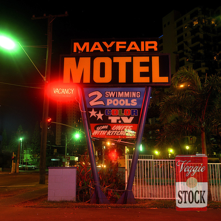 Gold Coast motel, Gold Coast, Queensland, Australia, 2001.<br /> credit: Megan Young