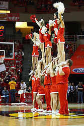 08 December 2012:  Redbird Cheerleaders during an NCAA mens basketball game between the Western Michigan Broncos and the Illinois State Redbirds (Missouri Valley Conference) in Redbird Arena, Normal IL