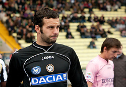 Goalkeeper Samir Handanovic of Udinese and Armin Bacinovic of Palermo during football match between Udinese Calcio and Palermo in 8th Round of Italian Seria A league, on October 24, 2010 at Stadium Friuli, Udine, Italy.  Udinese defeated Palermo 2 - 1. (Photo By Vid Ponikvar / Sportida.com)