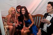 NICOLA MARTONE; CARRIE NEWMAN; DAWN WARD; JAMES ARKOULIS, Grey Goose Winter Ball to Benefit the Elton John AIDS Foundation. Battersea park. London. 29 October 2011. <br /> <br />  , -DO NOT ARCHIVE-© Copyright Photograph by Dafydd Jones. 248 Clapham Rd. London SW9 0PZ. Tel 0207 820 0771. www.dafjones.com.
