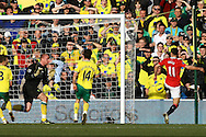 Picture by Paul Chesterton/Focus Images Ltd.  07904 640267.26/02/12.Ryan Giggs of Man Utd scores what turns out to be the winning goal and celebrates during the Barclays Premier League match at Carrow Road Stadium, Norwich.