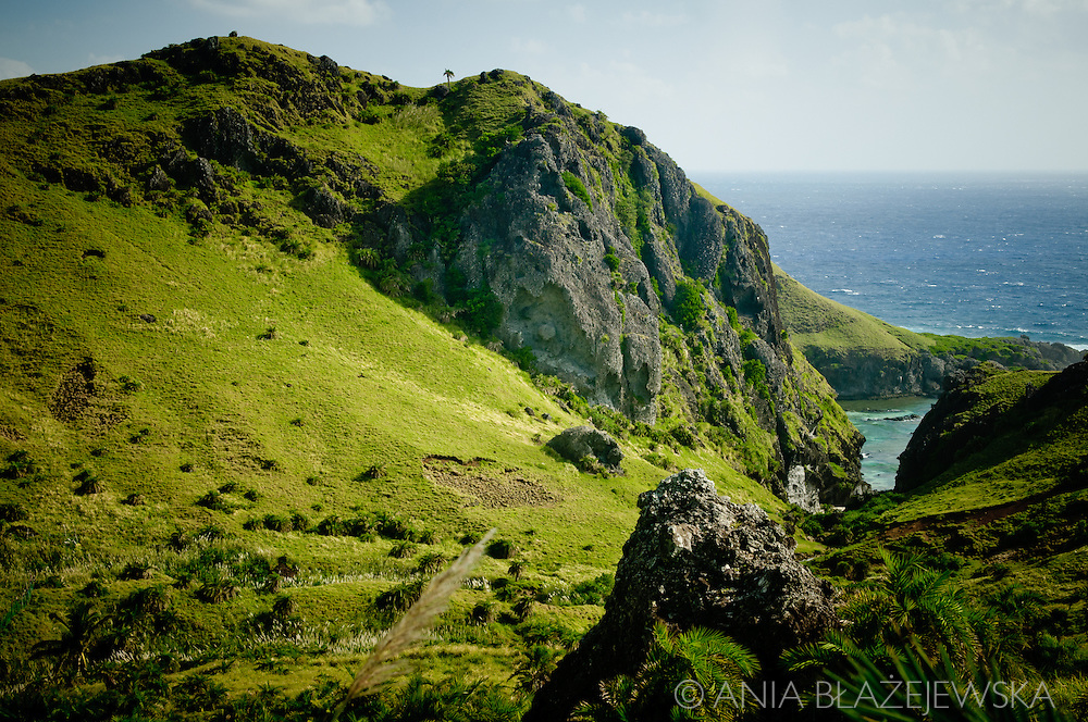 Philippines, Batanes. Landscape of Sabtang, a remote island in the northern edge of the Philippines, one of the Batanes.