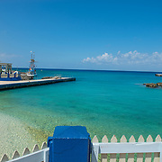 George Town Harbour and old town. Grand Cayman.