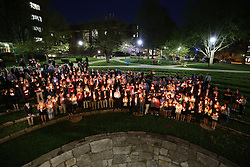 Service remembering Kentucky Kernel Photo Editor Jonathan Krueger who was murdered last week, Monday, April 20, 2015 at Memorial Hall in Lexington.