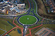 Nederland, Gelderland, Beuningen, 10-01-2011;.Beuningen , Shell-station aan de westkant van Beuningen..luchtfoto (toeslag), aerial photo (additional fee required).foto/photo Siebe Swart