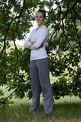 03-09-2013 VOLLEYBAL: PERSLUNCH ORANJE VROUWEN: ARNHEM<br /> Op Papendal had de media de kans om de volleybalvrouwen te interviewen voordat zij naar het EK afreizen / Femke Stoltenborg<br /> ©2013-FotoHoogendoorn.nl