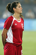 12 August 2008: Kara Lang (CAN).  The women's Olympic team of Sweden defeated the women's Olympic soccer team of Canada 2-1 at Beijing Workers' Stadium in Beijing, China in a Group E round-robin match in the Women's Olympic Football competition.