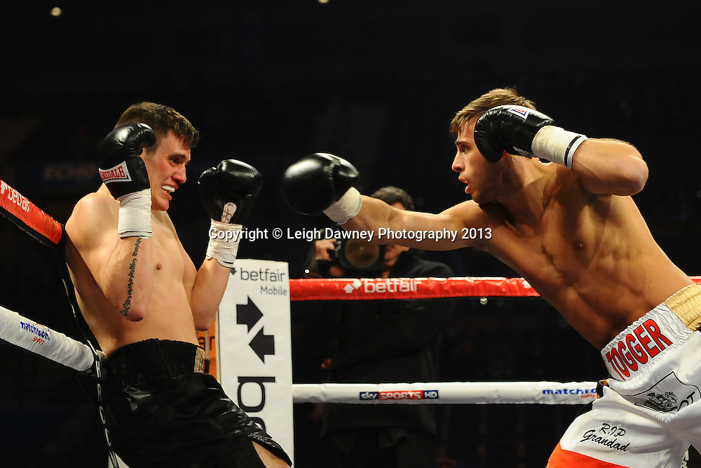 Chris Perry Metcalf defeats Liam Griffiths in a 4x3 Welterweight contest at the Echo Arena, Liverpool, London, UK on the 30th March 2013. Matchroom Sport © Leigh Dawney Photography 2013.