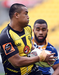 Wellington's Julian Savea against Otago in the Mitre 10 Rugby match at Westpac Stadium, Wellington, New Zealand, Sunday October 01,, 2017. Credit:SNPA / Ross Setford  **NO ARCHIVING**