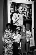 Roma 17 Ottobre  2005.Il comune di Roma e la Caritas diocesana di Roma incontrano gli ospiti della Caritas per ricordare Mons. Luigi Di Liegro, alla sala della Protomoteca in Campidoglio.Ospiti e volontari della Caritas Davanti al ritratto di  Mons. Luigi Di Liegro.