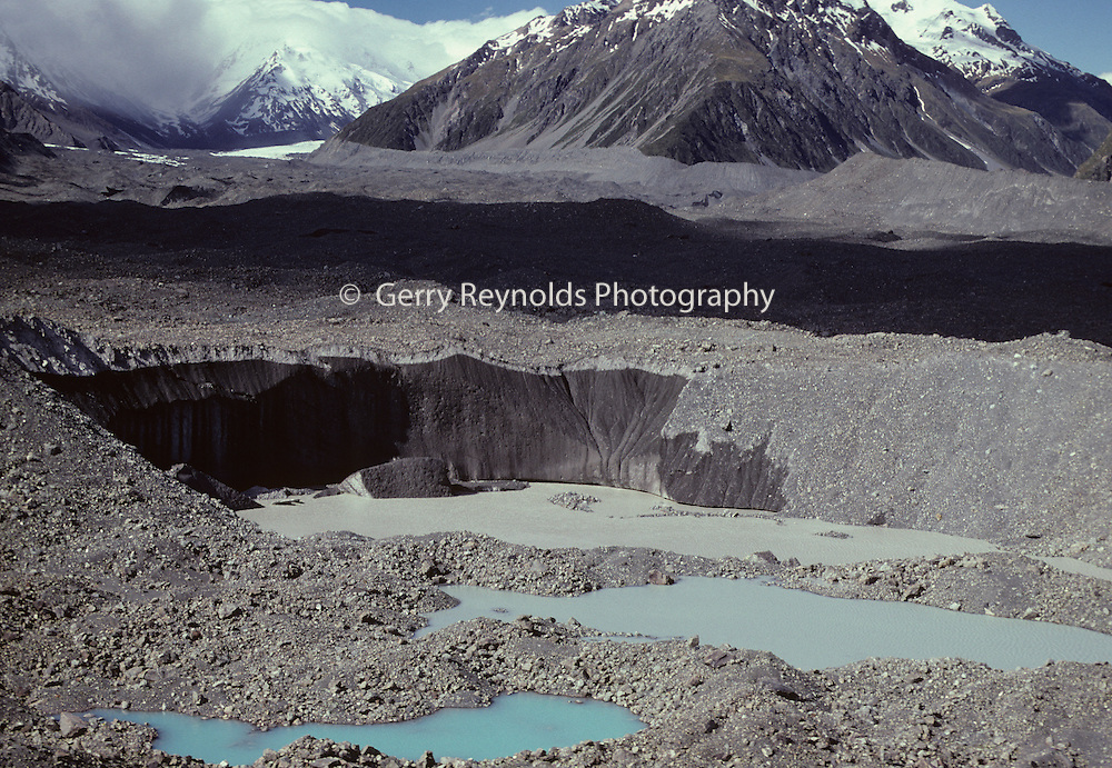 Glacial moraine pond, Glacial moraine lake, Tasman Valley, Tasman Glacier, Tasman Glacier Moraine, Glacier, Glacier Moraine, Moraine, New Zealand