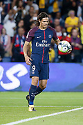 Edinson Roberto Paulo Cavani Gomez (psg) (El Matador) (El Botija) (Florestan) with the ball to kick a penalty during the French championship L1 football match between Paris Saint-Germain (PSG) and Toulouse Football Club, on August 20, 2017, at Parc des Princes, in Paris, France - Photo Stephane Allaman / ProSportsImages / DPPI