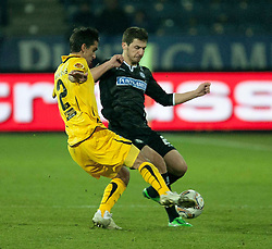14.12.2011, UPC Arena, Graz, AUT, UEFA Europa League , Sturm Graz vs AEK Athen FC, im Bild George Popkhadze (SK Puntigamer Sturm Graz, #2) und Giannis Kontoes (AEK Athen FC, Defender, #2) // during UEFA Europa League football game between Sturm Graz and AEK Athens FC at UPC Arena in Graz, Austria on 14/12/2011. EXPA Pictures © 2011, PhotoCredit: EXPA/ E. Scheriau