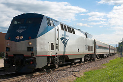 24 July 2010: The morning southbound coming from Chicago and headed to St. Louis arrives at the station in Normal Illinois