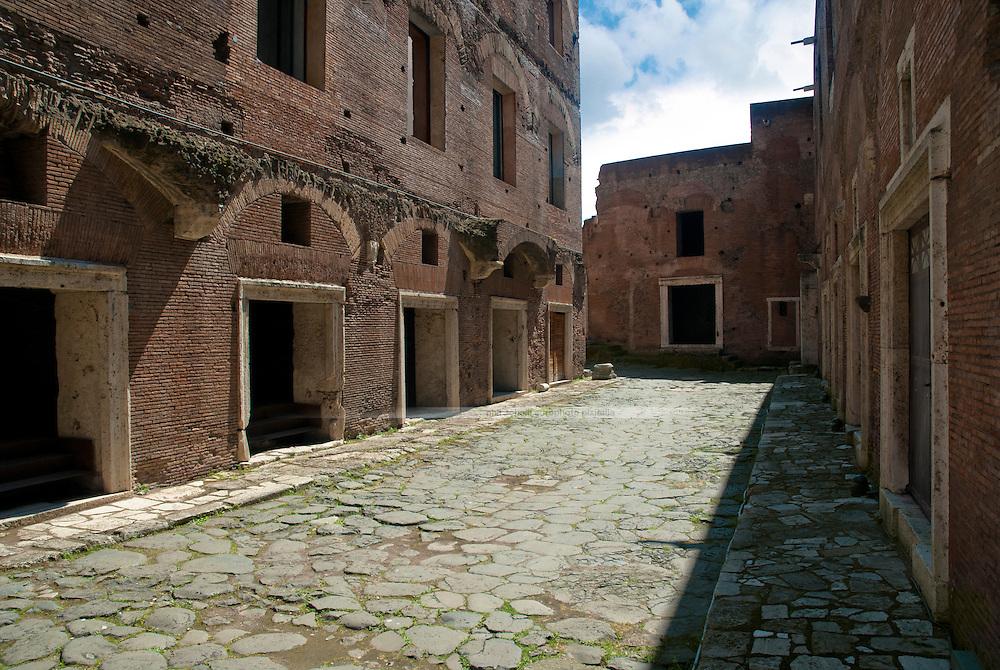 Traian Market in ancient imperial Rome's Forum Romanum.