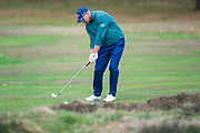 Thomas Bjorn of Denmark in action during the British Masters 2018 at Walton Heath Golf Course, Walton On the Hill, Surrey on 12 October 2018. Picture by Martin Cole.