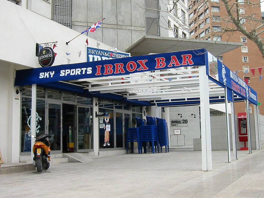 Loyalist Bars in Benidorm, Costa Blanca, Spain.