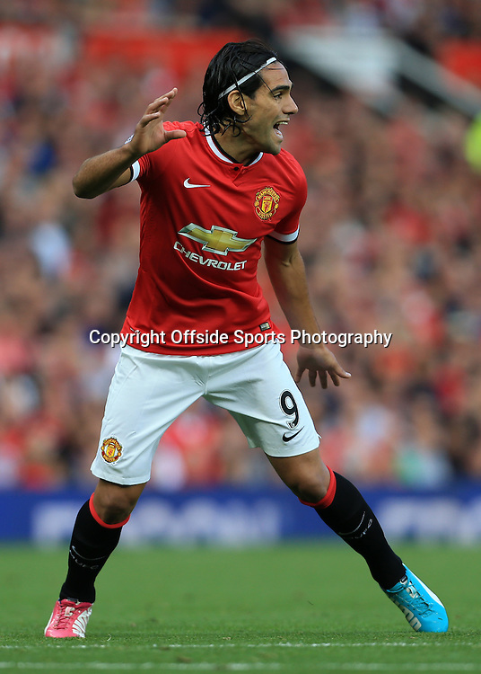 14th September 2014 - Barclays Premier League - Manchester United v Queens Park Rangers - Radamel Falcao of Man Utd - Photo: Simon Stacpoole / Offside.